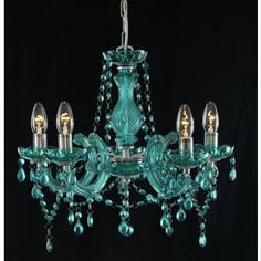 Marie Therese 5 Light Chandelier Teal From Homebase Co Uk