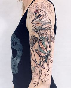 50 Perfect Tattoo Sleeves That Are Super Gorgeous sleeve tattoos, tattoos for women, tattoo sleeves tattoos bracelet tattoos brazalete tattoos hombro tattoos band Best Sleeve Tattoos, Sleeve Tattoos For Women, Leg Tattoos, Body Art Tattoos, Tattoo Sleeves, Upper Arm Tattoos, Maori Tattoos, Henna Tattoos, Girly Tattoos