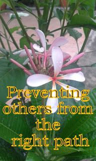 The Creator, His Caliph and Satan (Allaah, Aadamii awr ibliis): Preventing others from the right path
