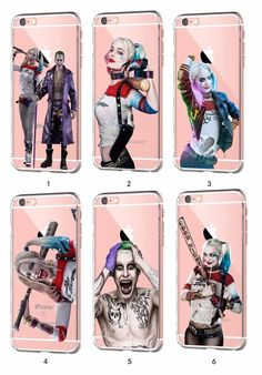 Suicide Squad Harley Quinn Joker Jared Leto for iPhone Samsung CLEAR TPU Case G8 #NONGCHAO