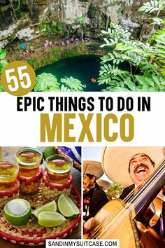 55 Epic Things to do in Mexico. In this guide, we list the 55 best things to do in Mexico! From beautiful beaches to scuba diving to unique museums, you'll discover lots of inspiration for planning your next trip. | What to do in Mexico | Unique things to do in Mexico | Fun things to do in Mexico | Things to do in Mexico Cancun | Things to do in Mexico City Bucket Lists | Best Things to do in Mexico | Cool Things to do in Mexico | Mexico Travel |