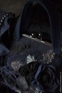 """Женские сумки ручной работы. Ярмарка Мастеров - ручная работа вечерняя сумка и шарфик ручной работы """"Ночная фиалка"""". Handmade."""