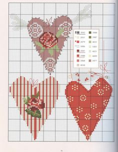 ru / Фото # 97 - Rosenkusse - Liaison by Patchwork & Kreuzstitch - a . - Tours,Trips,Home Decoration,Hairstyle Cross Stitch Boards, Cross Stitch Needles, Cross Stitch Heart, Embroidery Hearts, Cross Stitch Embroidery, Embroidery Patterns, Floral Embroidery, Cross Stitch Designs, Cross Stitch Patterns