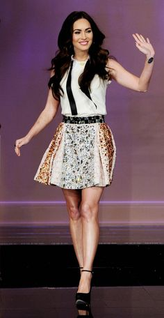 Megan Fox in Dolce at The Tonight Show with Jay Leno