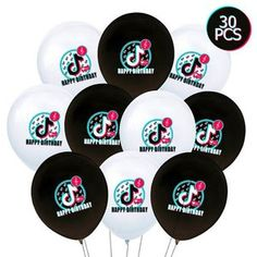 Birthday Party Decorations For Adults, 7th Birthday Party Ideas, Birthday Party Outfits, Adult Birthday Party, Birthday Girl T Shirt, Celebration Balloons, Troll Party, Rainbow Parties, Tic Toc