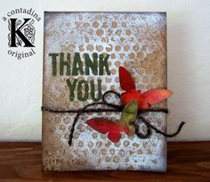 Vivian Keh Thank You Card with Sizzix Dies