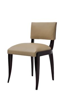 José António Andrade Interiors - Furniture Design - Chairs Dark wood, light beige leather
