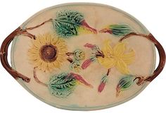 Antique Majolica Dish