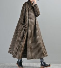 Women& maxi wool coat, Loose wool coat, wool robes, wool coat for women, maternity maxi clothes Clothes For Women Over 40, Coats For Women, Clothes Women, Hijab Fashion, Fashion Dresses, Fashion Tips, Maternity Maxi, Oversized Dress, Mode Hijab