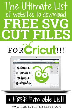Free Fonts For Cricut, Cricut Svg Files Free, Cricut Fonts, Free Svg Cut Files, Cricut Air 2, Cricut Vinyl, Vinyle Cricut, Cricut Access, List Of Websites