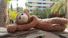 Speenknuffel aap Lulú gehaakt door Manon Prins #haken #haakpatroon #gehaakt #amigurumi #knuffel #gehaakt #crochet #häkeln #cutedutch