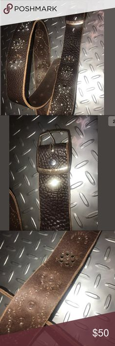 Typos Malibu leather rhinestone belt vintage retro Great belt used kit abused women's size 32/34 Tylie Malibu Accessories Belts