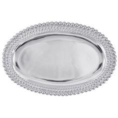 Mariposa Triple Pearls Oval Platter