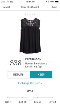 I think this top is really pretty!