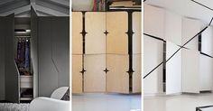 portes placard en bois massif, en noir mat et blanc neige - idées et conseils pour créer une déco originale