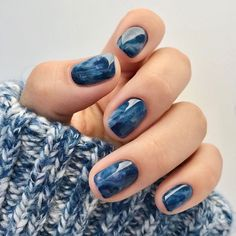 Nail Design Stiletto, Nail Design Glitter, Blue Nails With Design, Stiletto Nails, Stylish Nails, Trendy Nails, Cute Nails, Perfect Nails, Gorgeous Nails
