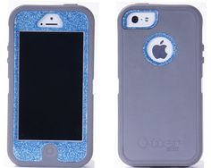 Otterbox iPhone 5 Case Custom Glitter Grey/Ocean Defender Series Case Cover iPhone 5 Otterbox