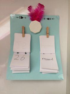 Kalendertje met knijpers🖍💕