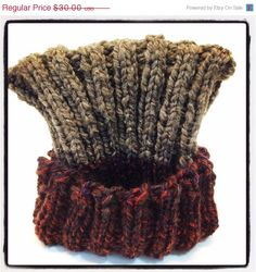 ON SALE Hand knit cap/ wool / hand knit for a man or a by Jackpie