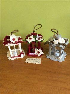 más y más manualidades: Como hacer faroles decorativos con fieltro o foamy Easy Christmas Ornaments, Christmas Lanterns, Simple Christmas, Christmas Time, Felt Crafts, Diy And Crafts, Crafts For Kids, Christmas Projects, Holiday Crafts