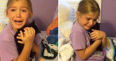 Girl Bursts In Tears When She Meets Kitten Who Looks Like Her Best Friend That Passed Away