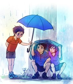 """Rei saw two boys getting drenched in the rain, and offered them his umbrella as he was leaving the park. """"To the glasses guy who lent us his umbrella: Thank you."""""""