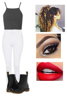 """""""❤️❤️❤️"""" by victoriamajors ❤ liked on Polyvore featuring Topshop and Dr. Martens"""