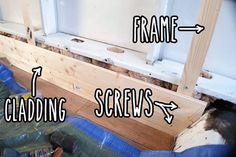 Fitting wooden cladding to the van interior - Vandog Traveller Camper Interior Design, Campervan Interior, Campervan Ideas, Interior Ideas, Van Conversion Interior, Camper Van Conversion Diy, Camper Boat, Diy Camper, Diy Van Conversions