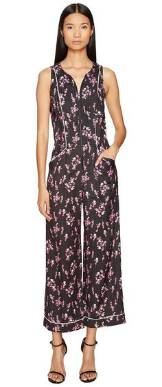 Sonia by Sonia Rykiel Roses Print Jumpsuit (Roses Print) Women's Jumpsuit & Rompers One Piece - Sonia by Sonia Rykiel, Roses Print Jumpsuit, 87428351-21-961, Apparel One Piece Jumpsuit & Rompers, Jumpsuit & Rompers, One Piece, Apparel, Clothes Clothing, Gift - Outfit Ideas And Street Style 2017