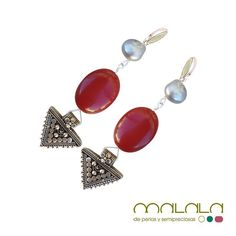 #pendiente de #jaspe #perla cultivada y #plata de Birmania  #earings #aretes #silver #pearl #accesories #diseñoExclusivo #elegancia #fashion #femenino #fino #gift #guapa #handmade #hautecouturejewelry #instafashion #jewel #joya #joyeria #joyeriadediseño #ladies #MadeinSpain #madrid #magia #MalalaDePerlas