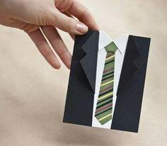 Suit & tie card - DIY