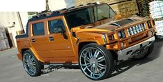Modified Hummer SUT with Giovanna 30 inch bling wheels on Pirelli Scorpion Zero Tires. Hummer Cars, Hummer Truck, Hummer H3, Jeep Cars, Jacked Up Trucks, Chevy Pickup Trucks, Big Trucks, Semi Trucks, My Dream Car
