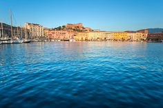 View of the old port in Portoferraio, Elba