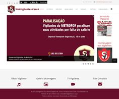 Web Site Corporativo do Sindicato dos Vigilantes do Estado do Ceará- Desenvolvido com HTML5, CSS3, JavaScript, PHP, Banco de dados MySql.