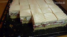 Ovocné nebeské rezy - recept   Varecha.sk Czech Recipes, Tiramisu, Food And Drink, Baking, Anna, Cakes, Gardening, Hampers, Cake Makers