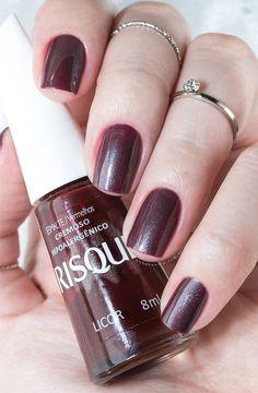 Combinando Esmaltes: marrom com toque lilás