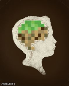 This is your brain on minecraft... That's how I feel after playing it lol