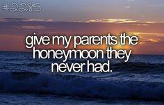 Parents honeymoon