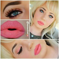 This photo shows just how versatile Younique products are. Eye- beautiful, sexy, gorgeous and stunning (blush) Cheeks- stunning Lips- Stunning applied dry for a lip stain than apply loveable are lipgloss and wah lah Barbie look by Younique Cosmetics This is totally why I ♡ Younique! Visit my website for more options or to get these products www.youniqueproducts.com/dreamlashesbyshelby.com