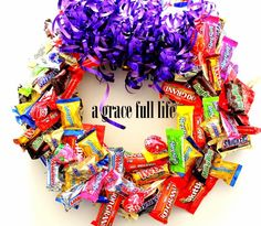 "Candy Bar Wreath. Because Nothing Says ""I Love You"" Like a Root Canal -"