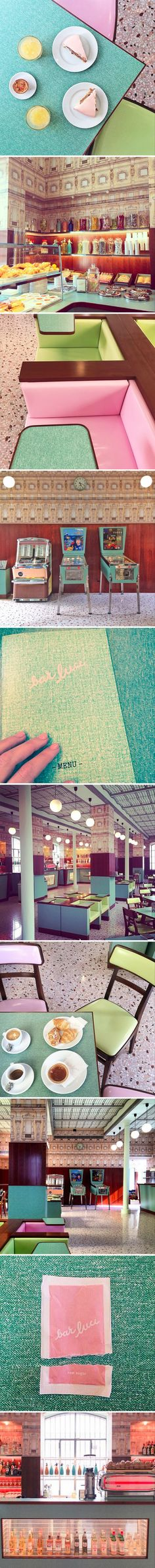 Cafe in Milan designed by Wes Anderson | Grand Budapest Hotel / Royal Tennenbaums