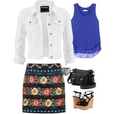 A fashion look from March 2015 featuring Rebecca Taylor tops, Topshop skirts and Luichiny sandals. Browse and shop related looks.