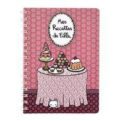 """Cahier de recettes (avec intercalaires) """"Mes Recettes de Fille"""""""