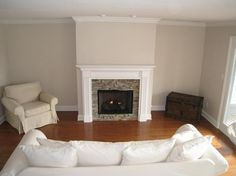 Stacked Stone Fireplace Surround slate fireplace surrounds with white mantle and oak floors