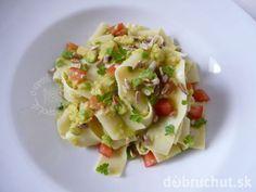 Pappardelle s avokádom Vegetable Recipes, Pasta Salad, Potato Salad, Potatoes, Vegetables, Ethnic Recipes, Food, Crab Pasta Salad, Potato