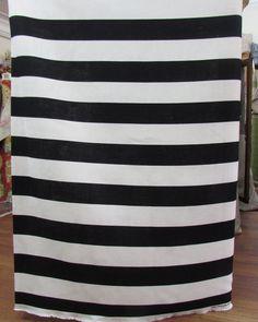 LINEN STRIPES black on ivory 3 inch home decor by reneesfabrics