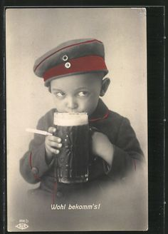 In the good old days, everyone participated in Beerfest. :) (German WWI)