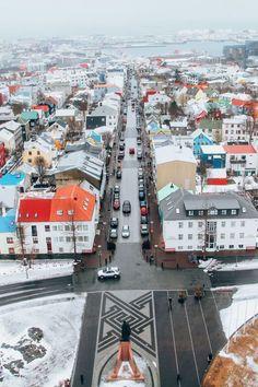 The colors of Reykjavik, Iceland.