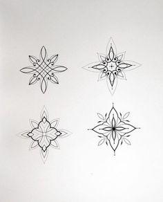 Cute Finger Tattoos, Wrist Tattoos, Mini Tattoos, Black Tattoos, Small Tattoos, Mandala Tattoo Design, Tattoo Designs, Dots To Lines, Traditional Black Tattoo