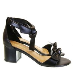 Sandália Laço Preta 694 Armada by Moselle   Moselle sapatos finos femininos! Moselle sua boutique online.